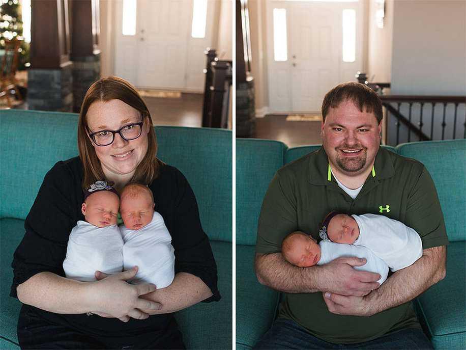 Bir Annenin Yeni Doğan Ama Zamanı Olmayan İkizleriyle Olan Dokunaklı Fotoğrafları
