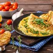 Gebelerin Yemekten Keyif Alacağı Nefis Yeşillikli Omlet Tarifi