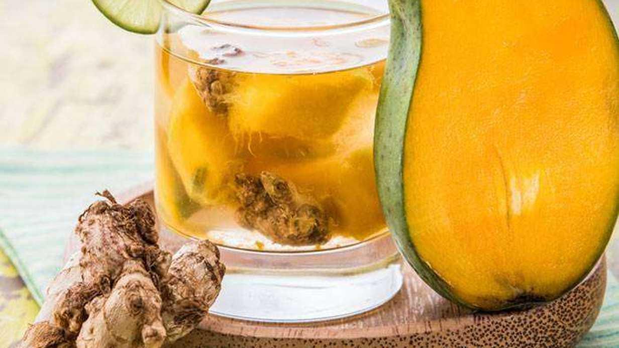 Mango ve Zencefilli Buzlu İçecek